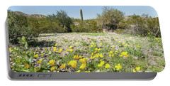 Desert Flowers And Cactus Portable Battery Charger
