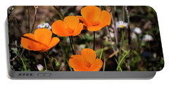 Portable Battery Charger featuring the photograph Desert Flowers Four Flowers Four by Penny Lisowski