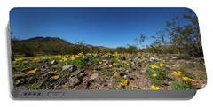 Desert Flowers In Spring Portable Battery Charger
