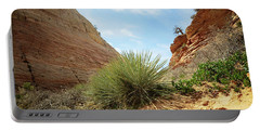 Desert Greenery Portable Battery Charger