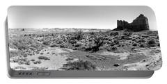 Desert Landscape - Arches National Park Moab, Utah Portable Battery Charger