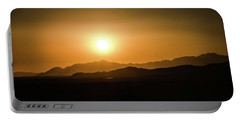 Desert Mountain Sunset Portable Battery Charger