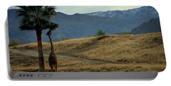 Portable Battery Charger featuring the photograph Desert Palm Giraffe 001 by Guy Hoffman