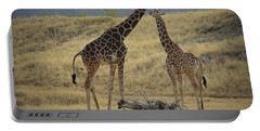 Portable Battery Charger featuring the photograph Desert Palm Giraffe by Guy Hoffman