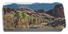 Portable Battery Charger featuring the photograph Desert Palms by Frank DiMarco