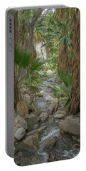 Portable Battery Charger featuring the photograph Desert Palms Oasis by Frank DiMarco
