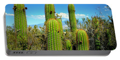 Portable Battery Charger featuring the photograph Desert Plants - All In The Family by Glenn McCarthy