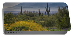 Desert Springtime Portable Battery Charger by Anne Rodkin