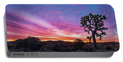 Desert Sunrise At Joshua Tree Portable Battery Charger