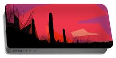 Desert Sunset In Tucson Portable Battery Charger