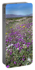 Portable Battery Charger featuring the photograph Desert Super Bloom by Peter Tellone