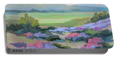 Portable Battery Charger featuring the painting Desert Verbena 1 by Diane McClary