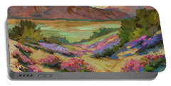 Desert Verbena At Borrego Springs Portable Battery Charger