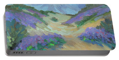 Portable Battery Charger featuring the painting Desert Verbena by Diane McClary