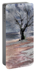 Deserted Beach Portable Battery Charger by Pennie  McCracken