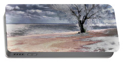Portable Battery Charger featuring the photograph Deserted Beach by Pennie  McCracken