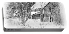 Deserted Country Home II Portable Battery Charger by Kathy M Krause