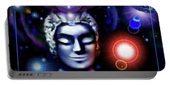 Buddha - Be At Peace Portable Battery Charger by Hartmut Jager