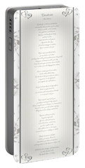 Desiderata In Silver Script By Max Ehrmann Portable Battery Charger