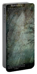 Desiderata Of Happiness - Vintage Art By Jordan Blackstone Portable Battery Charger