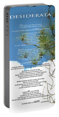 Desiderata Poem Over Sky With Clouds And Tree Branches Portable Battery Charger