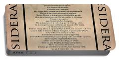 Desiderata - Spanish- Poema Escrito Por Max Ehrmann Portable Battery Charger