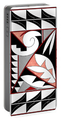 Southwest Collection - Design Four In Red Portable Battery Charger