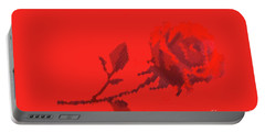 Portable Battery Charger featuring the photograph Designer Red Rose by Linda Phelps