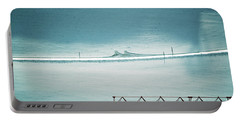 Portable Battery Charger featuring the photograph Designs And Lines - Winter In Switzerland by Susanne Van Hulst