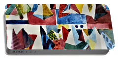 Portable Battery Charger featuring the painting Designs For Pyramids by Mindy Newman