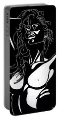 Portable Battery Charger featuring the drawing Desire by Mayhem Mediums