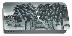 Portable Battery Charger featuring the painting Destination 2 by Kenneth Clarke