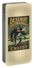 Destroy This Mad Brute - Wwi Army Recruiting  Portable Battery Charger