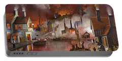Portable Battery Charger featuring the painting Destruction Of Dudley Castle by Ken Wood