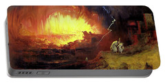 Destruction Of Sodom And Gomorah Portable Battery Charger