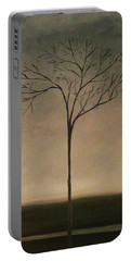 Portable Battery Charger featuring the painting Det Lille Treet - The Little Tree by Tone Aanderaa