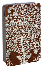 Detail Of A Vintage Botanical Pattern Portable Battery Charger by Anglo Indian School