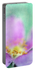 Detail Of A Wild Rose Portable Battery Charger