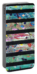 Portable Battery Charger featuring the painting Detail Of Agoraphobia 2 by Robbie Masso