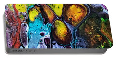 Portable Battery Charger featuring the painting Detail Of Auto Body Paint Technician 6 by Robbie Masso