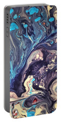 Portable Battery Charger featuring the painting Detail Of Fluid Painting 2 by Robbie Masso