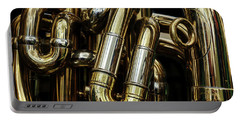 Detail Of The Brass Pipes Of A Tuba Portable Battery Charger