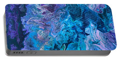 Portable Battery Charger featuring the painting Detail Of Waves 6 by Robbie Masso