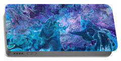 Portable Battery Charger featuring the painting Detail Of Waves 7 by Robbie Masso