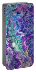 Portable Battery Charger featuring the painting Detail Of Waves by Robbie Masso