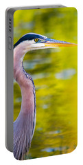 Portable Battery Charger featuring the photograph Details Of A Great Blue Heron  by Parker Cunningham