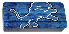 Detroit Lions Barn Door Portable Battery Charger