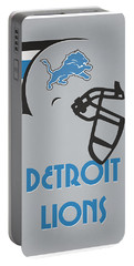 Detroit Lions Team Vintage Art Portable Battery Charger