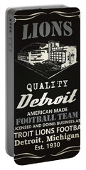 Detroit Lions Whiskey Portable Battery Charger