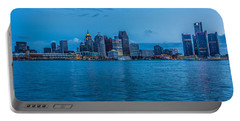 Detroit Skyline Portable Battery Charger